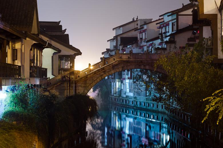 Gubei water town at night in Beijing,China.