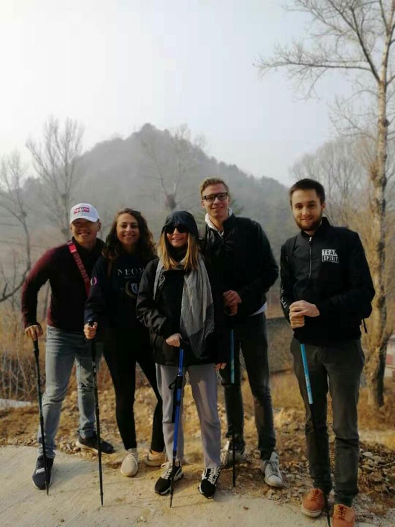 Great Wall of China trekking poles