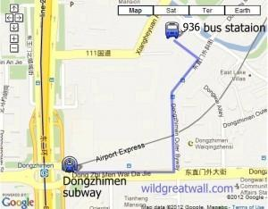 How to get by bus to 936 Hefangkou , Great Wall hiking, camping