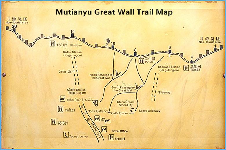 Great Wall map Mutianyu