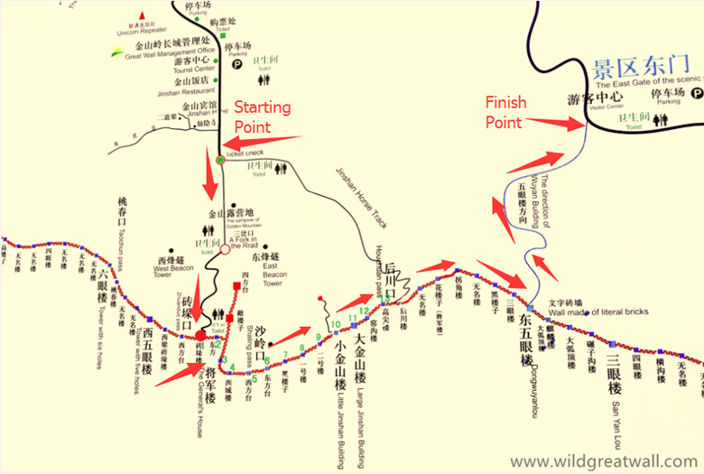 Jinshanling to Simatai West map_副本
