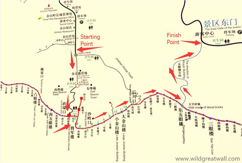 Jinshanling to Simatai West map_副本