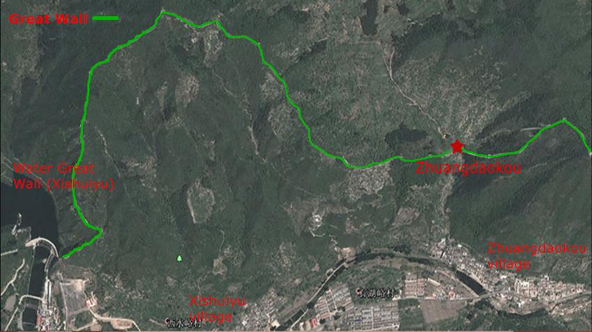 Huanghuacheng Great Wall (zhuangdaokou) Xishuiyu map_副本