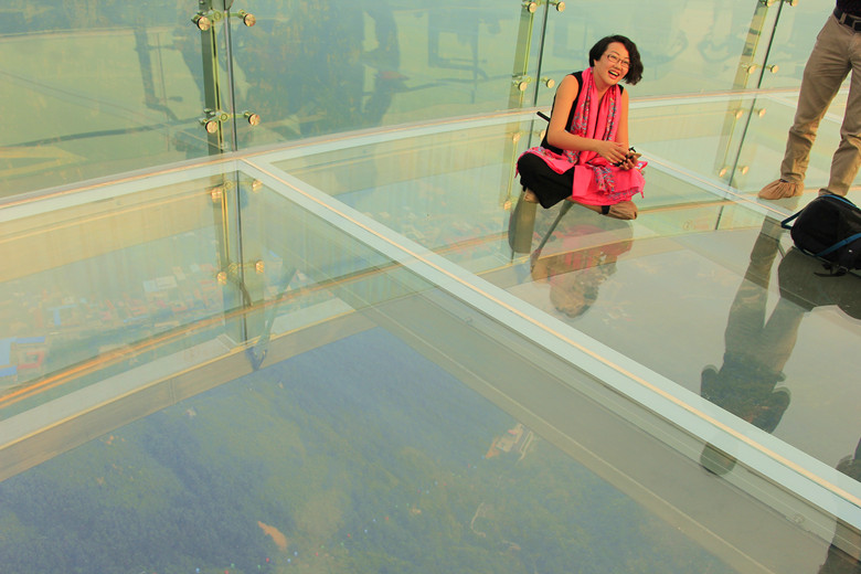 Shilingxia Glass Sightseeing Platform bridge