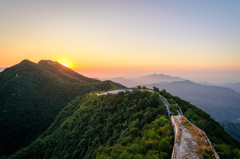 zhengbeilou Great Wall sunrise sunset